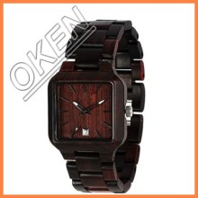 BPA-free certifications CE FDA & ROHS bamboo wood watch fancy bulk unisex