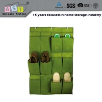 Hanging over the door plastic pocket shoe organizer