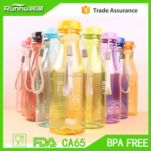 PETE acrylic Material clear sport bottles water bottle with caps BPA free RH208-650