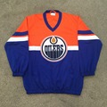Edmonton Oiler Orange-blue Autumn Fans Hockey Wear Sportswear Fashion Uniforms