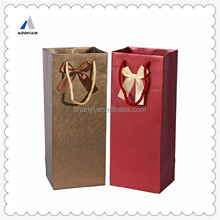 Mountain China supplier high end hot sell printing wine packaging bag