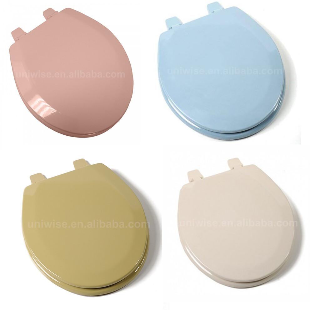 Gekleurde gegoten hout wc bril scharnieren met kleur gegoten kleur mdf toilet seat cover - Wc c olour grijze ...