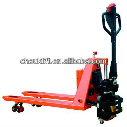 PU wheel Semi-electric pallet truck price SPT15
