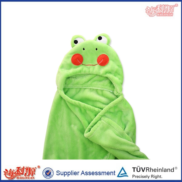 China factory cute embroidery hooded bath towel baby hooded towel baby towel