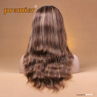 2014 Qingdao Premier WIgs #4/#12 7A grade High Quality Bleached Knots Lace Front Wig Virgin Human Hair