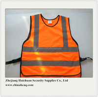 Hi Vis Orange Kids Security Warning Vests Children Reflective Safety Vest