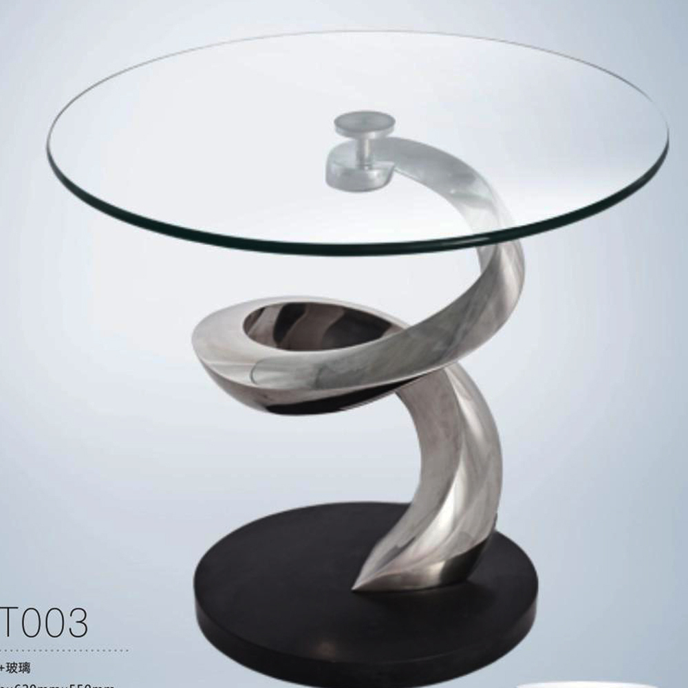 Side Table Rotating Glass Coffee Table For Home Hotel Buy Side Table Rotating Glass Coffee