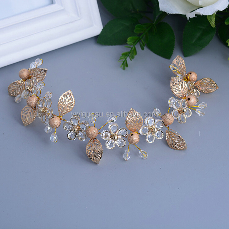 Rhinestone Bridal Headbands Wedding Evening Headband Ribbon hair band Tiara