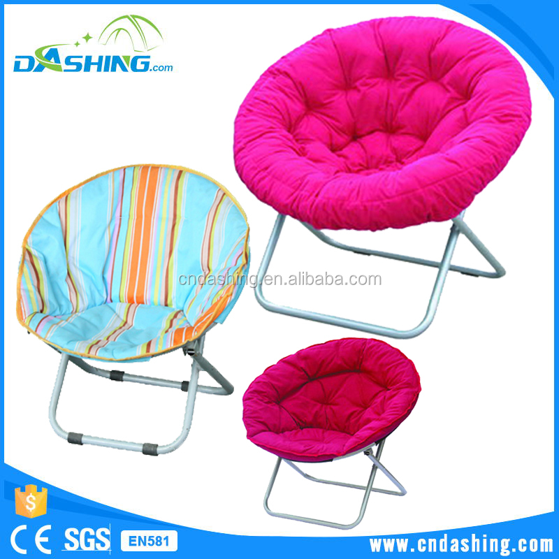 Indoor moon chair portable camping outdoor round lounge chair with padded