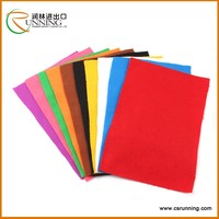 China supplier wholesale polyester needle color non woven fabric felt