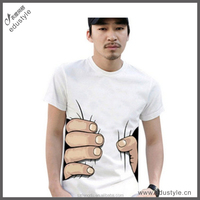 Oem cotton spandex tshirt for mens with cheap price