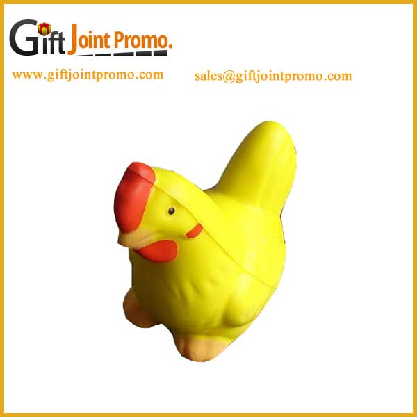 Cheap PU Foam Toy Chicken Shaped Anti Stress Ball