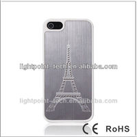 New Fastion Eiffel Tower Design Plastic Case for iphone 5 Hard Case Cell Phone Cover