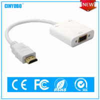 China supplier ROHS CE certificate HD to VGA adapter with audio output