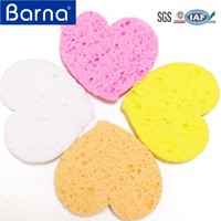 natural household cleaning item,compressed cellulose cleaning block,disposable dish scrub sponge cellulose