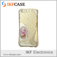 China supplier 3D mermaid design soft tpu cell phone accessories with electroplating border for iPhone 6