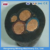Power portable mining cable with silica rubber Insulation