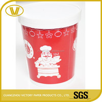 250ml paper soup cup with steam holes paper lid