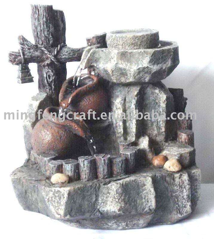 Polyresin indoor water fountain decoration
