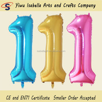 Wholesale number helium balloons, globo helium with kids birthday event decorations