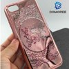 New design Cartoon Owl liquid quicksand glitter star TPU phone case for iphone