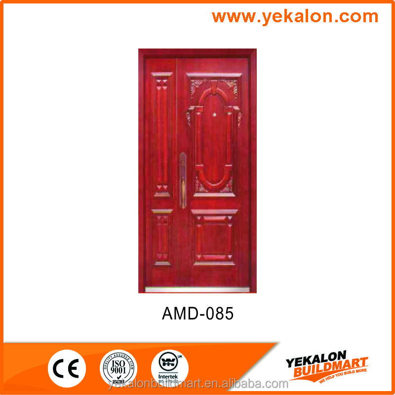 Yekalon AMD-085 wood finish Armored door pannel series security mother and son steel door
