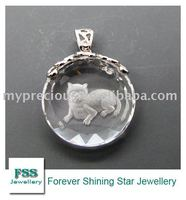 FSSP011 fashion crystal silver jewelry /carving craft