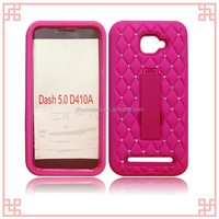 wholesale mobile phone rhinestone cover For BLU dash 5.0 robot stand