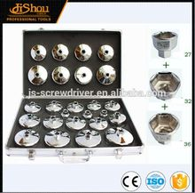 Brand new automotive tool hand tool 14pcs cup type oil filter wrench set with high quality