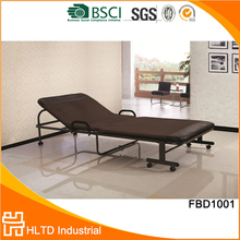 Unique design foldable bed, metal single bed wholesale