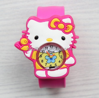 wholesale kid soft pvc wristband watch,custom silicone slap watch