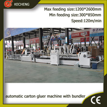automatic carton folder gluer machine with bundler