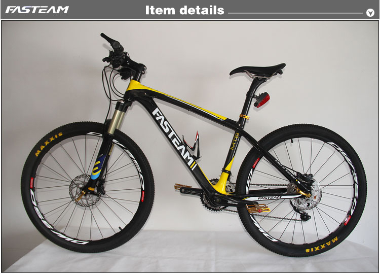 fast shipping 2015 brand new FASTEAM full carbon mtb Mountain bike 26ER&29ER complete MTB bike