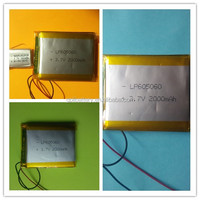 High sale rechargeable battery 3.7V lithium ion polymer battery LP062030