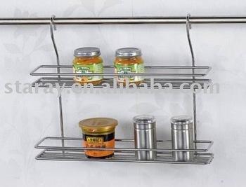 Economic simple design kitchen 2 layer spice rack buy for Economic kitchen designs