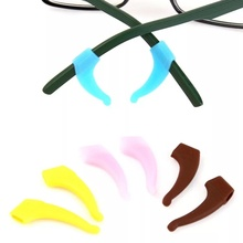 Colorful silicone eyeglass temple tip, hot sale glasses ear holder, fashion design silicone glasses ear hook