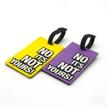 Not your bag design luggage tags