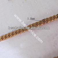 Brass Chain 1.8mm Nicmkel-Free Lead-Safe brass pocket watch chain