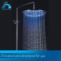 Quality Guarantee Nice Design Rainfall Round Rotating Color Shower Head