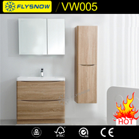 Professional solid wood wall mounted furniture double bowl 72 inch bathroom vanity with low price