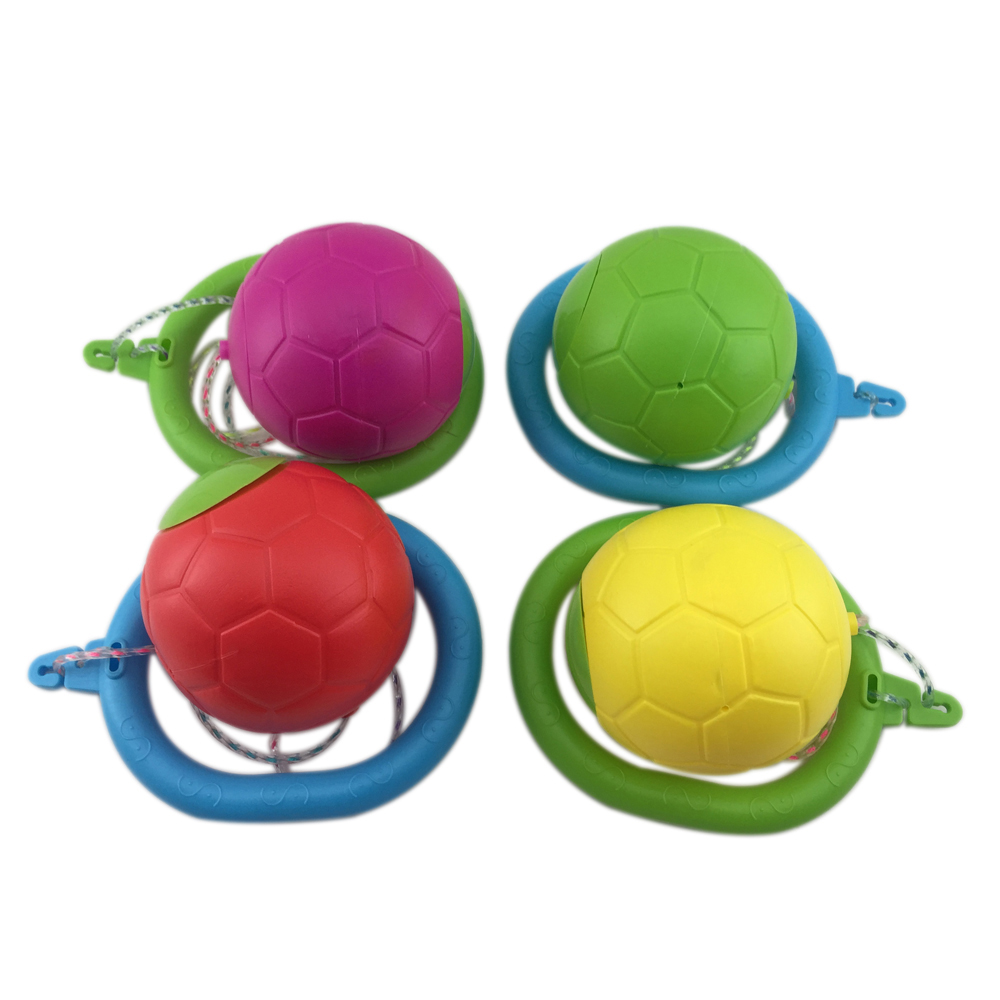 kids plastic sport skip ball foot toys colorful jumping ball