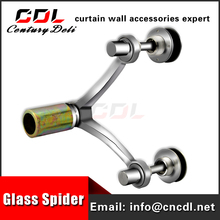 304/316 200mm series safe ss glass spider for canopy 2 arms 90 degree