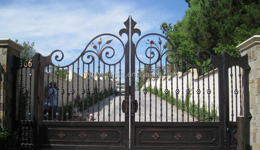 factory direct supply metal driveway gates modern main