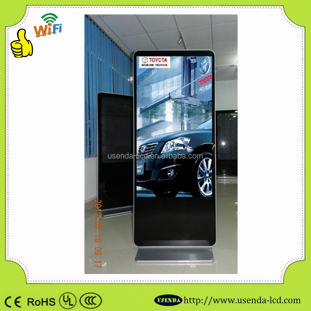 42inch Super slim indoor FHD free standing HDMI/VGA lcd screens advertising for shopping mall advertisement
