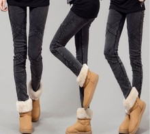 D60338A NEW WOMEN'S AUTUMN AND WINTER THICK KOREAN SLIM THIN LEGGINGS PANTS