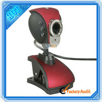 High Definition Free Driver Webcam USB PC Camera Red (C00497)