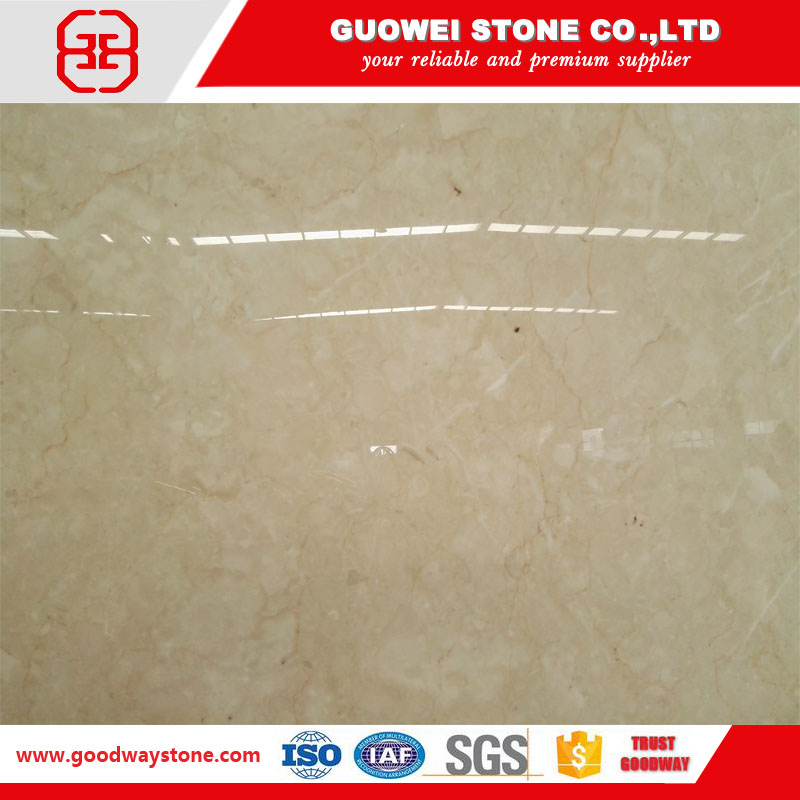 TV wall crushed beige marble flooring stone