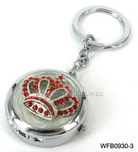 Hot sale rhinestone crown watch key ring