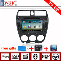 Bway In Dash 2 din Car video player for CITY 2012 CAR DVD with GPS car Radio Bluetooth steering wheel