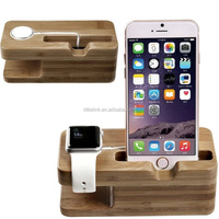 2016 hot selling for apple watch charging stand, for apple watch stand wood, 2 in 1 stand holder for iPhone 6